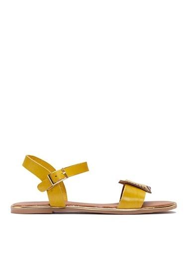 Sole Sisters Düz Sandalet Hardal - Hidalgo Sarı